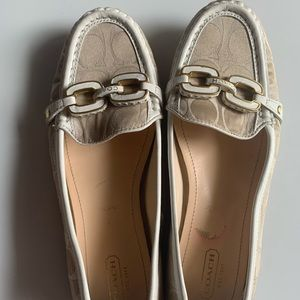 Coach Shoes - RARE Coach LoaferTan/ White Ella 8 1/2 B